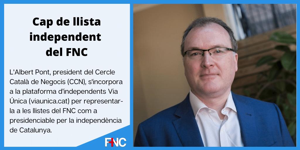Albert Pont Cap de Llista independent del FNC