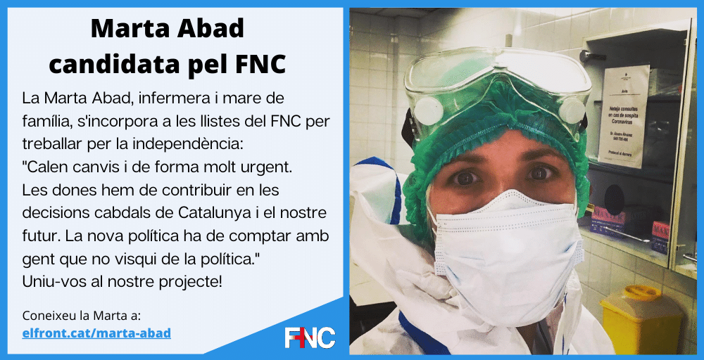 Marta Abad va a eleccions pel FNC
