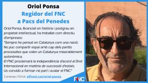 Oriol Ponsa Regidor del FNC
