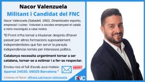 Envieu avaavaleu Nacor Valenzuela del FNCls al Nacor Valenzuela
