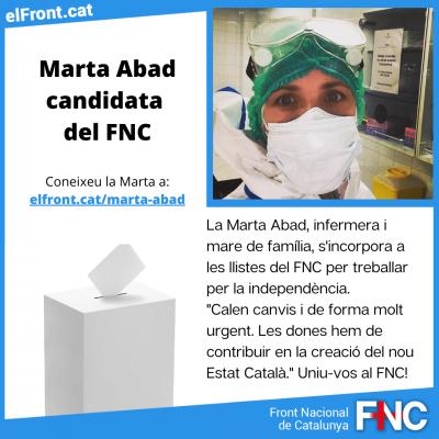 Marta Abad eleccions parlament FNC